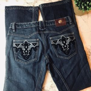 Antik Denim Bootcut Dark Wash Jeans